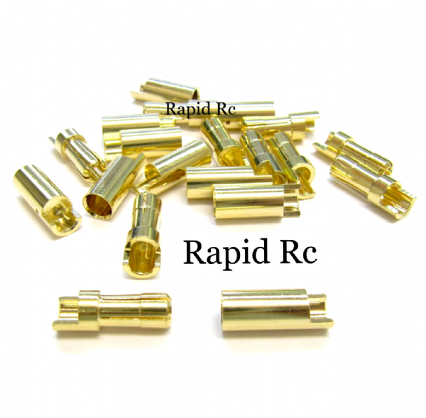 5.5mm Gold Connectors 10 pairs (20pc)
